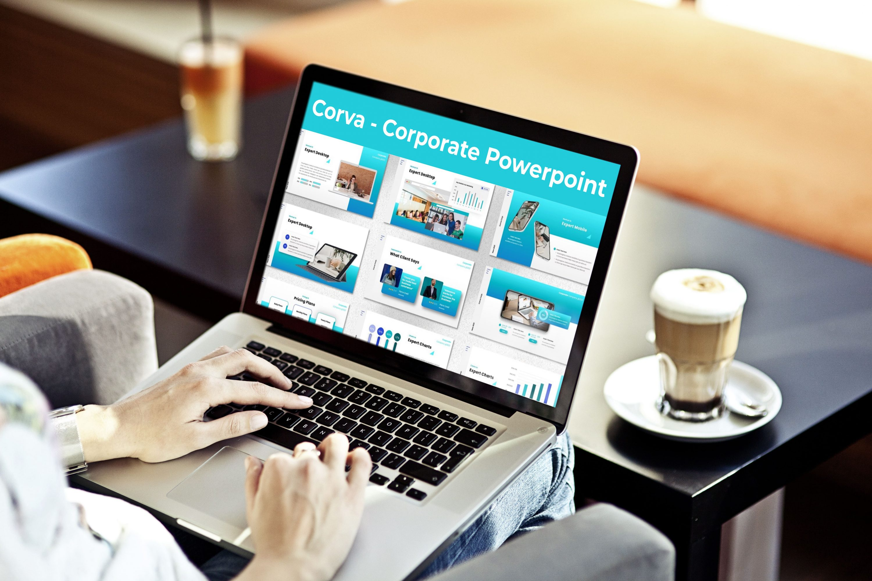 Laptop option of the Corva - Corporate Powerpoint.