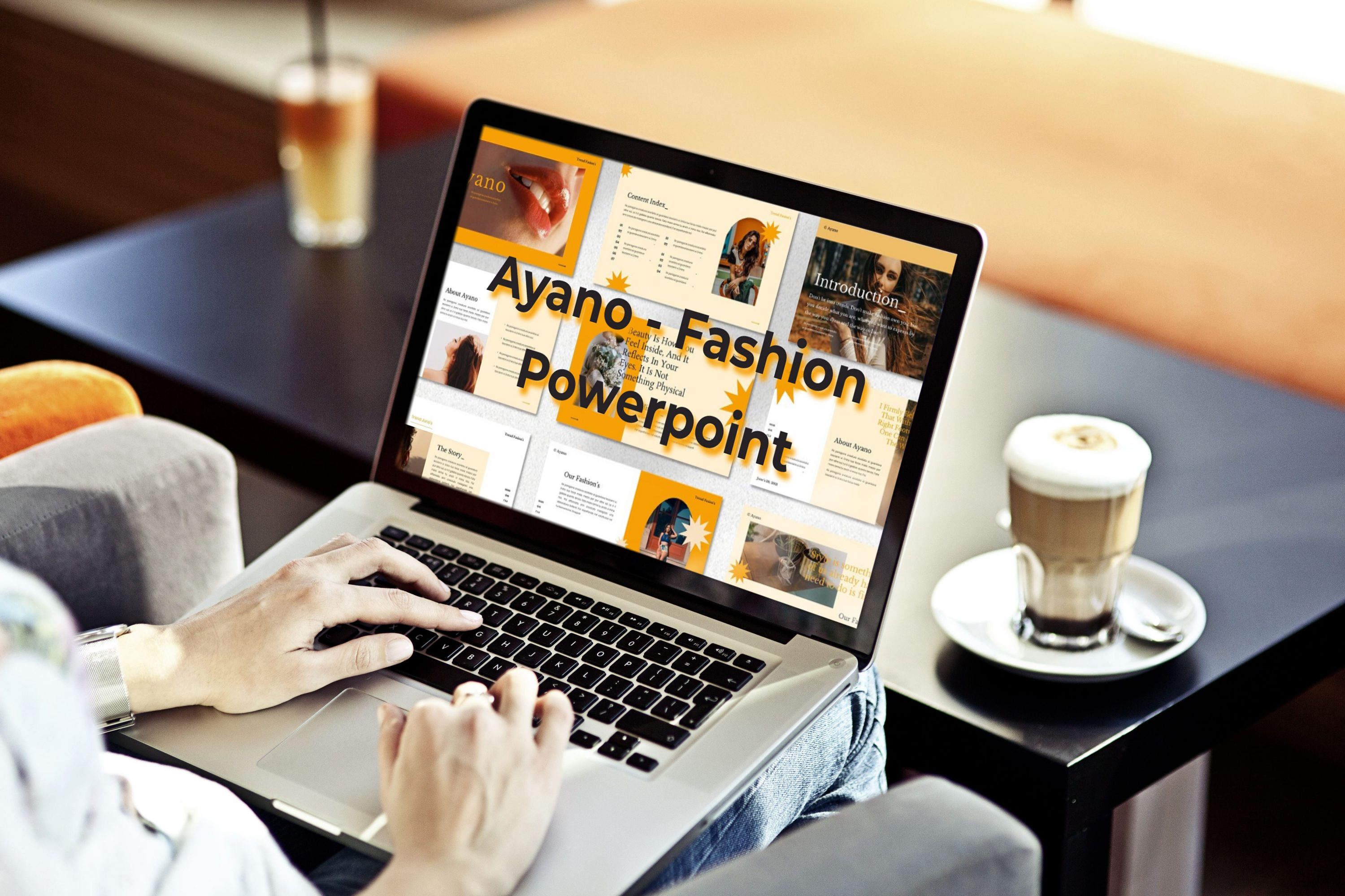 Laptop option of the Ayano - Fashion Powerpoint.