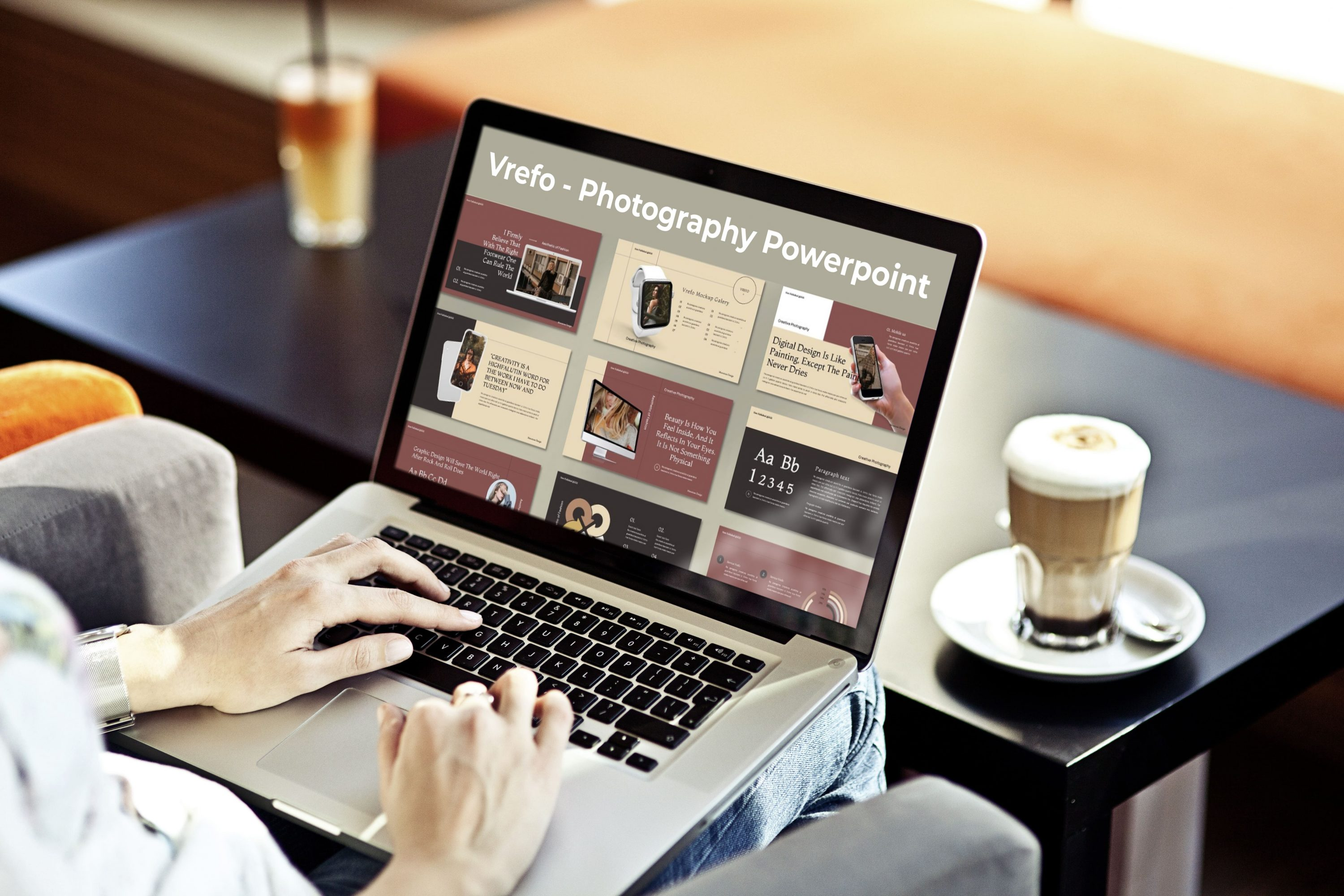 Laptop option of the Vrefo - Photography Powerpoint.