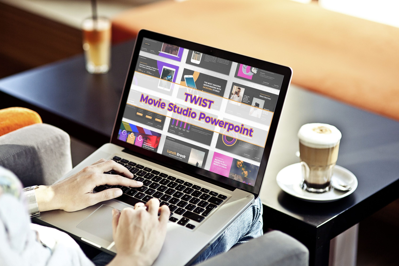 Laptop option of the Twist - Movie Studio Powerpoint.