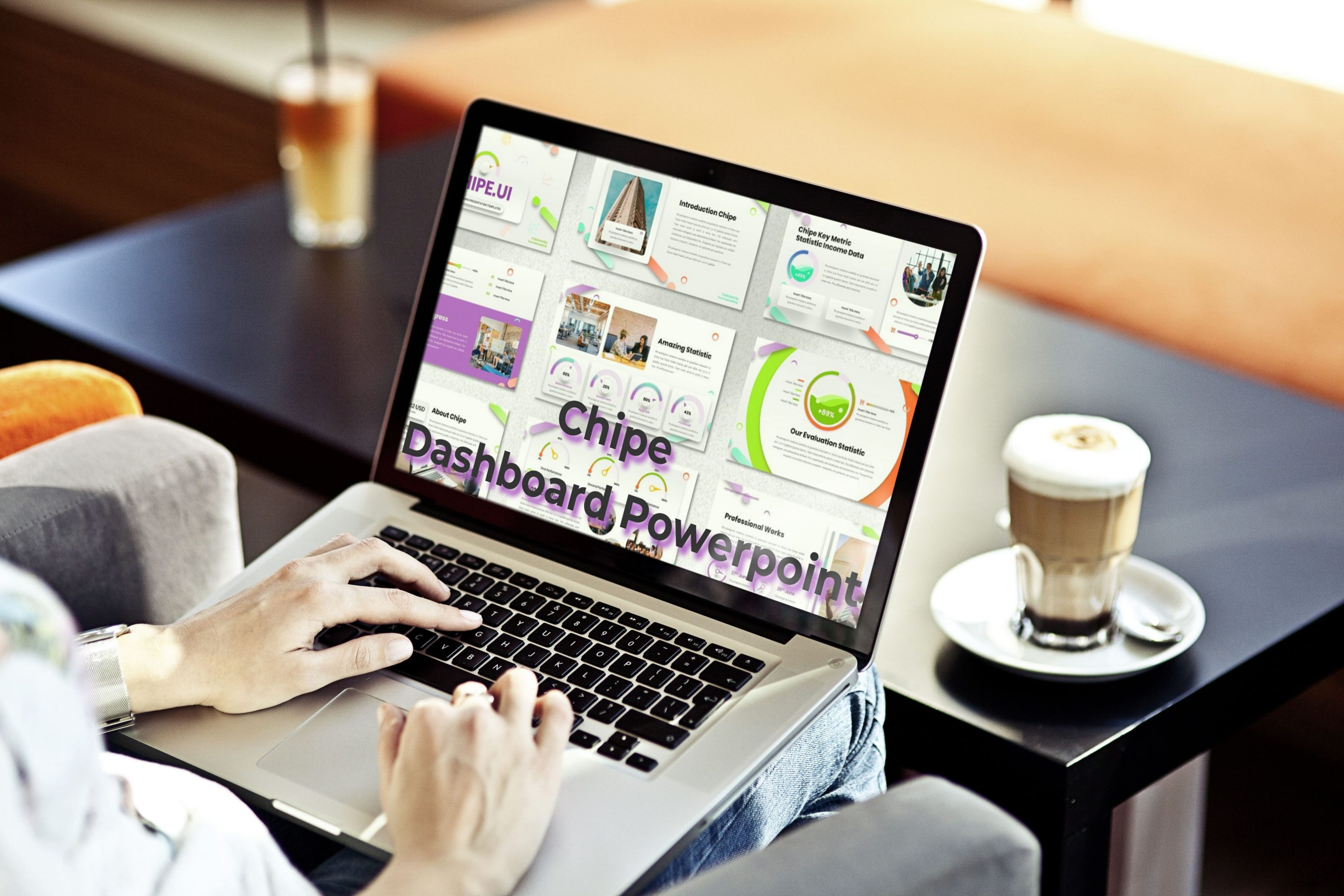 Laptop option of the Chipe - UI Dashboard Powerpoint.