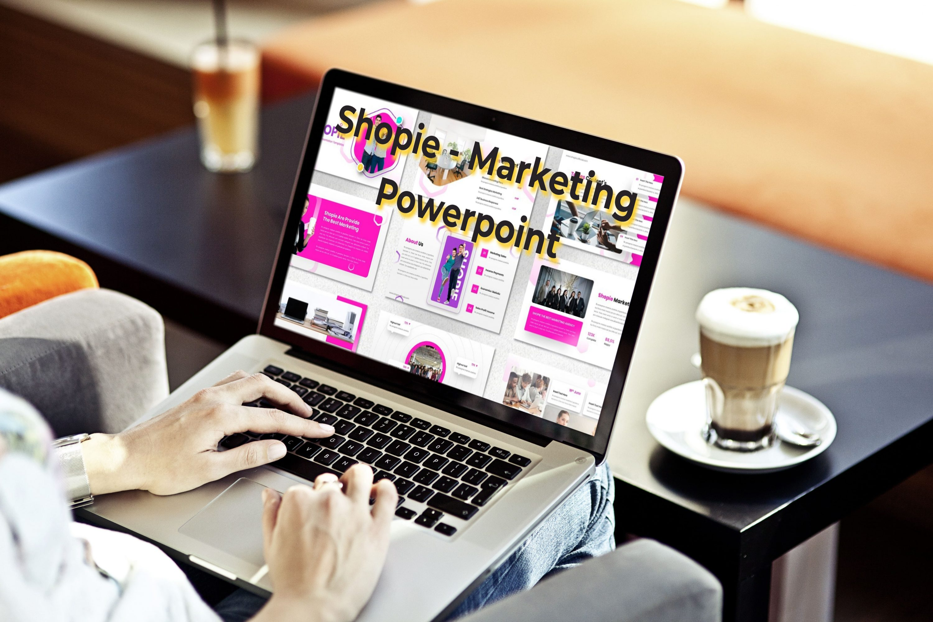 Laptop option of the Shopie - Marketing Powerpoint.