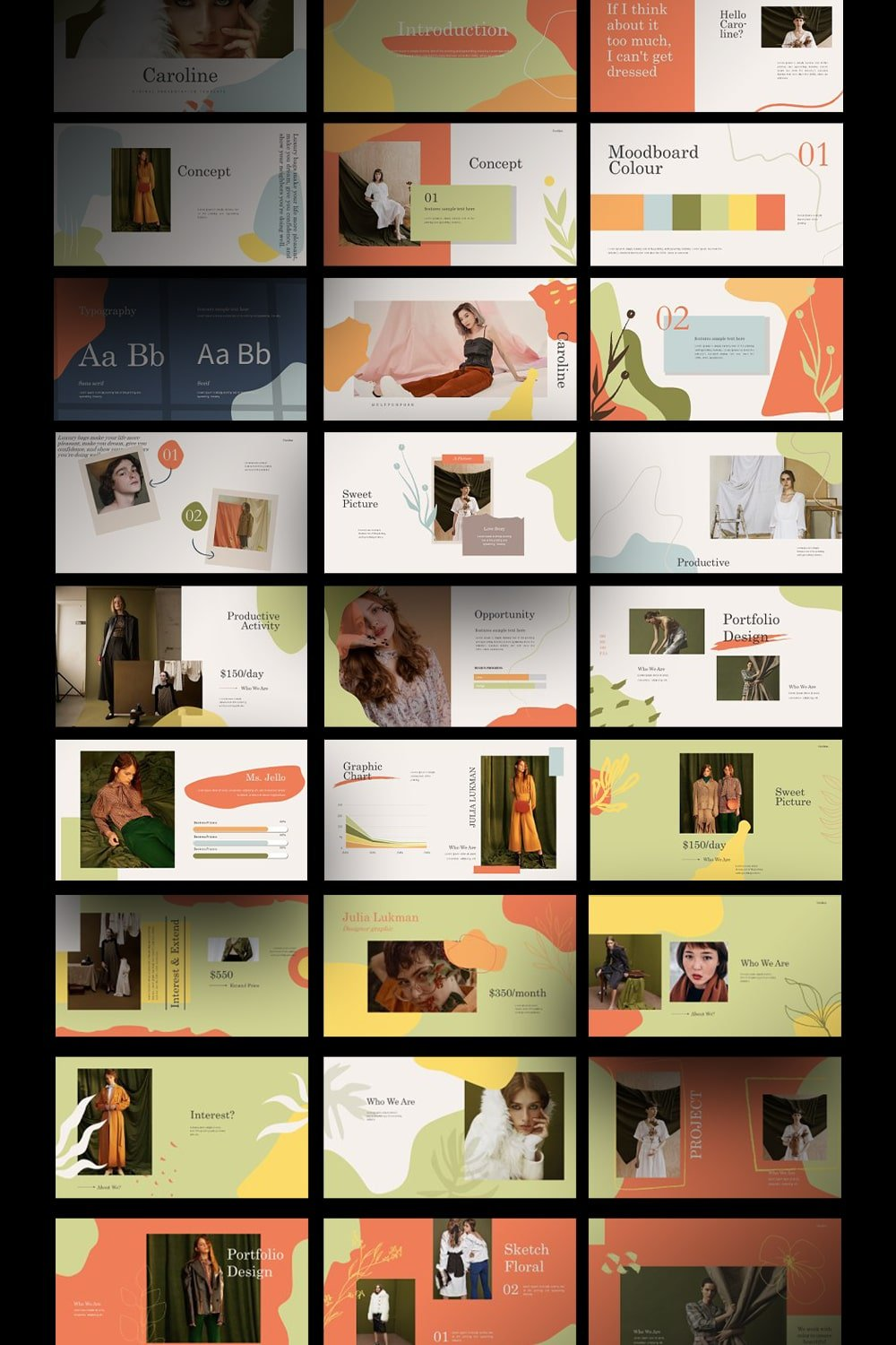 If you want make your presentation creative and contemporary, use this template.