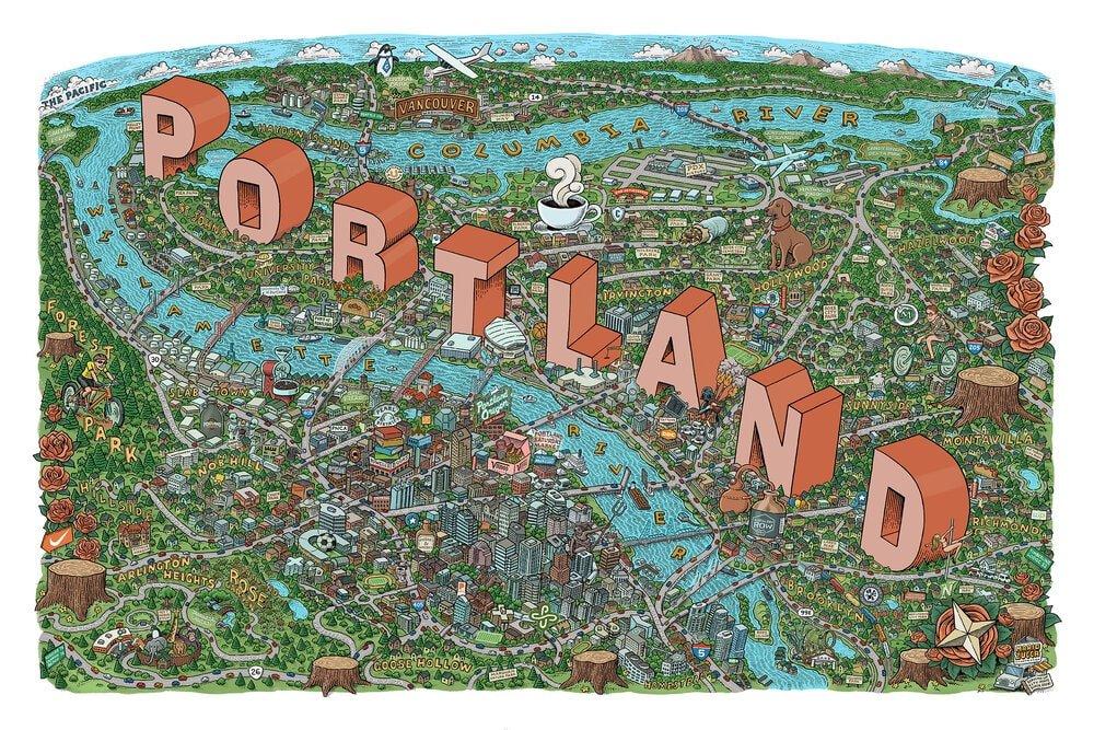 Portland map.