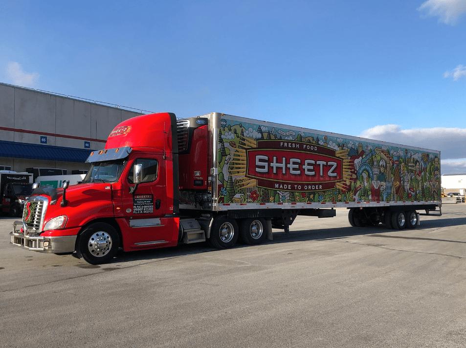 Sheetz trucks graphics.