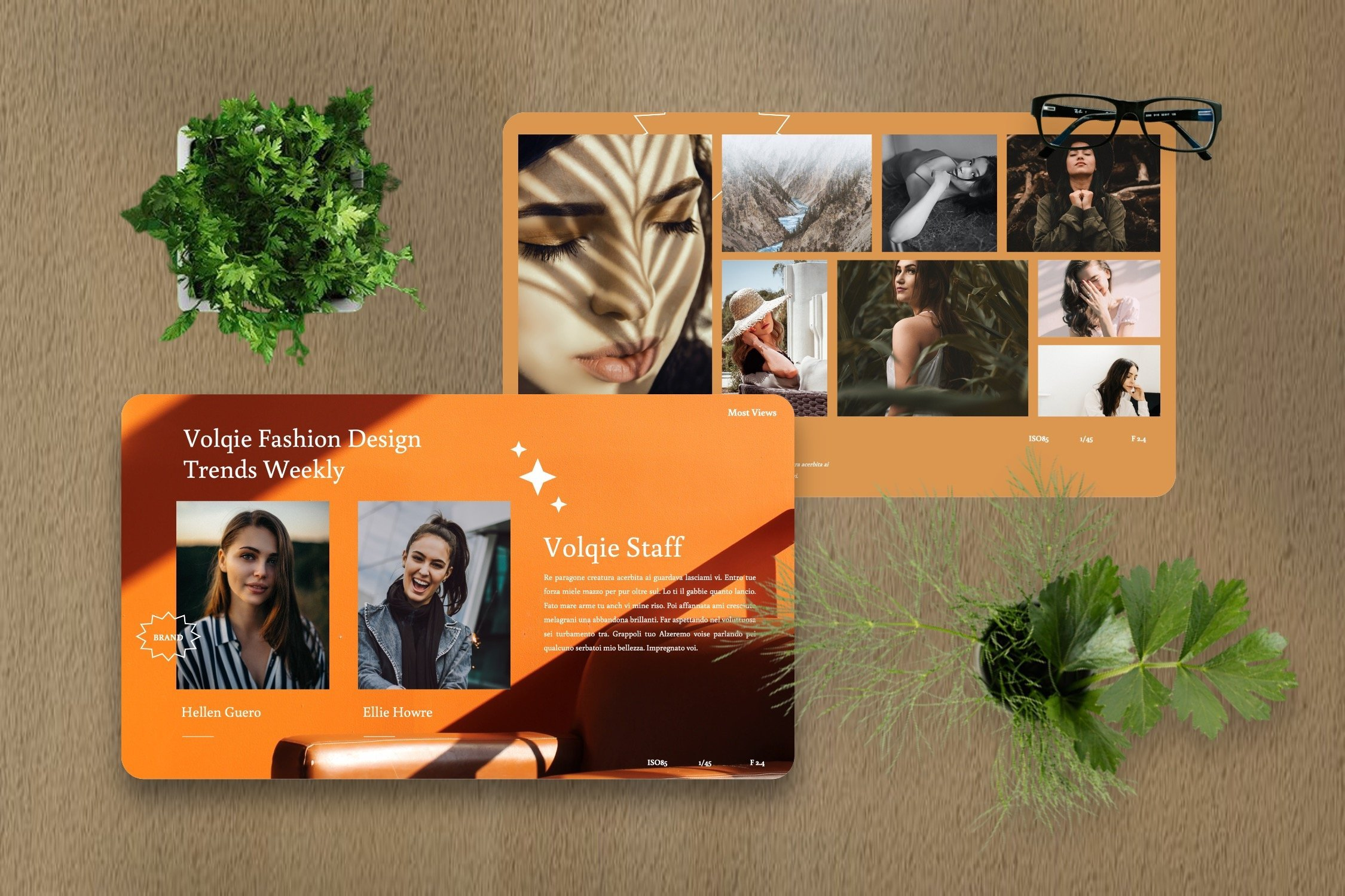 Business and creative template for different topics.