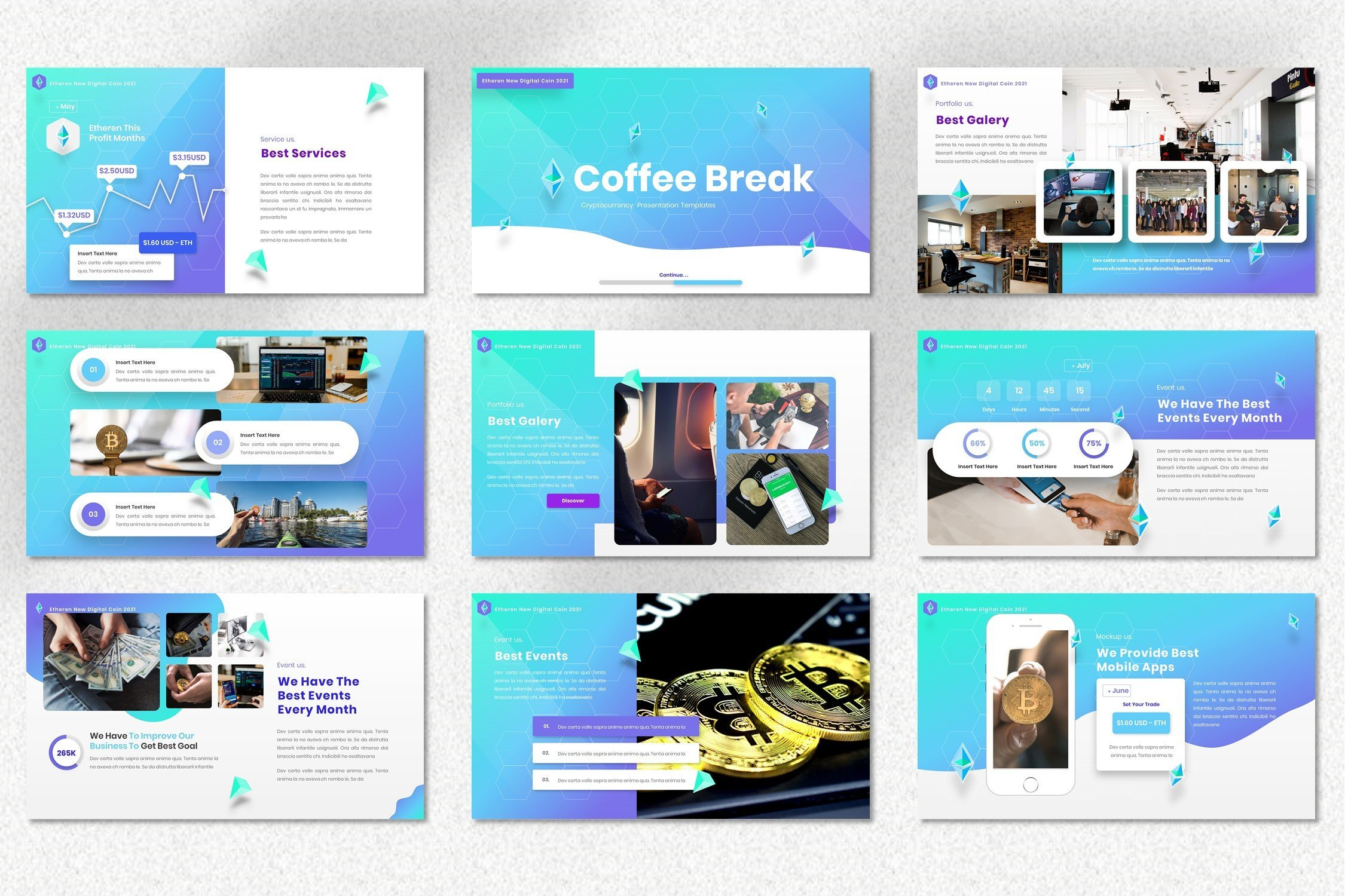 Template includes a vivid and nice infographics and diagrams.