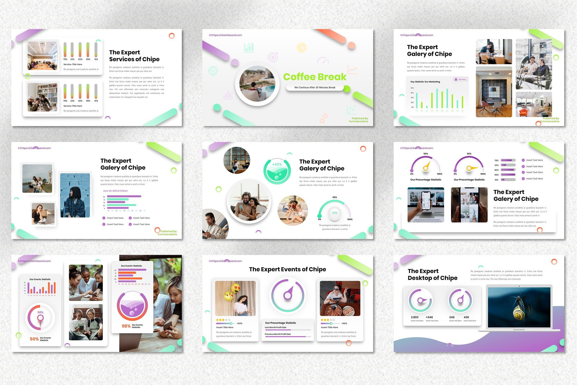 The template has many additional attributes for easy presentation of the text.