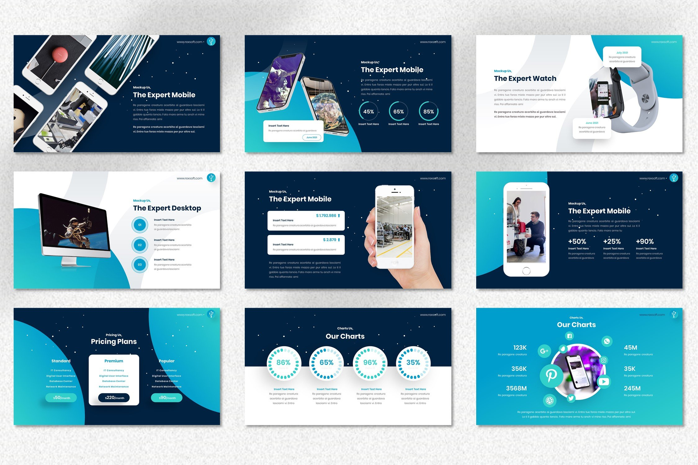 Rexsoft is a mobile friendly template.