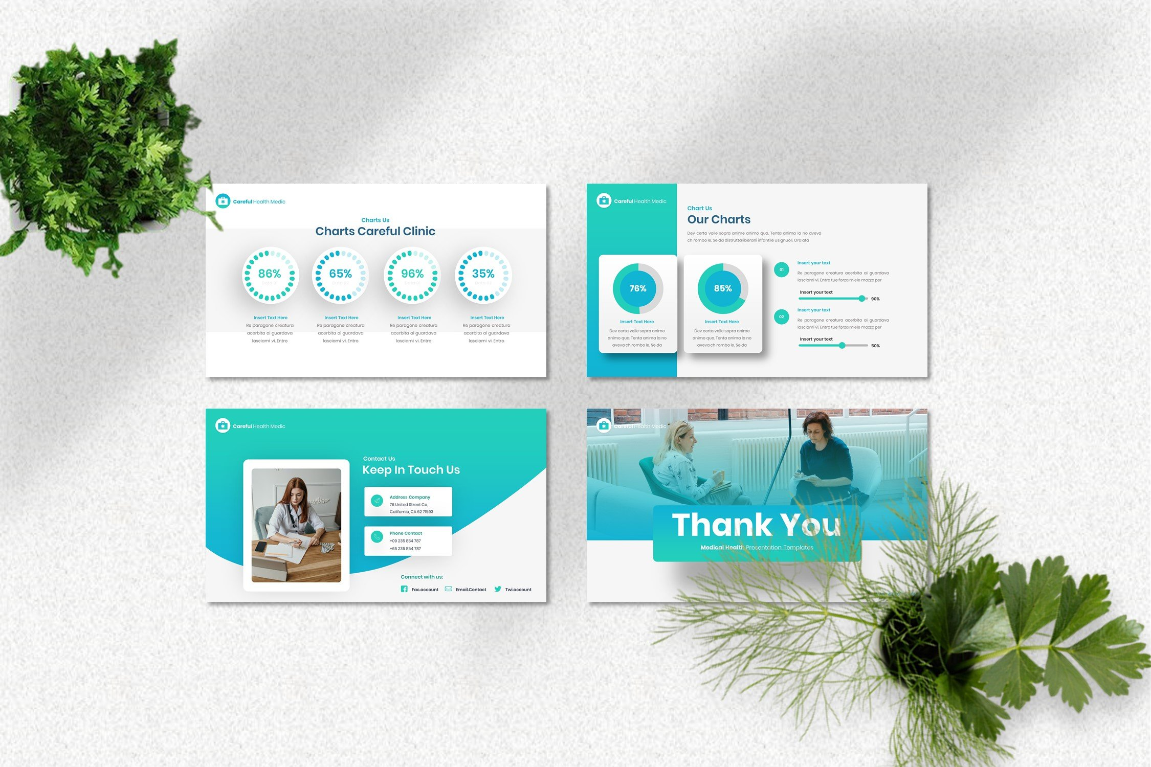 Template includes vivid elements such as infographics and diagrams.