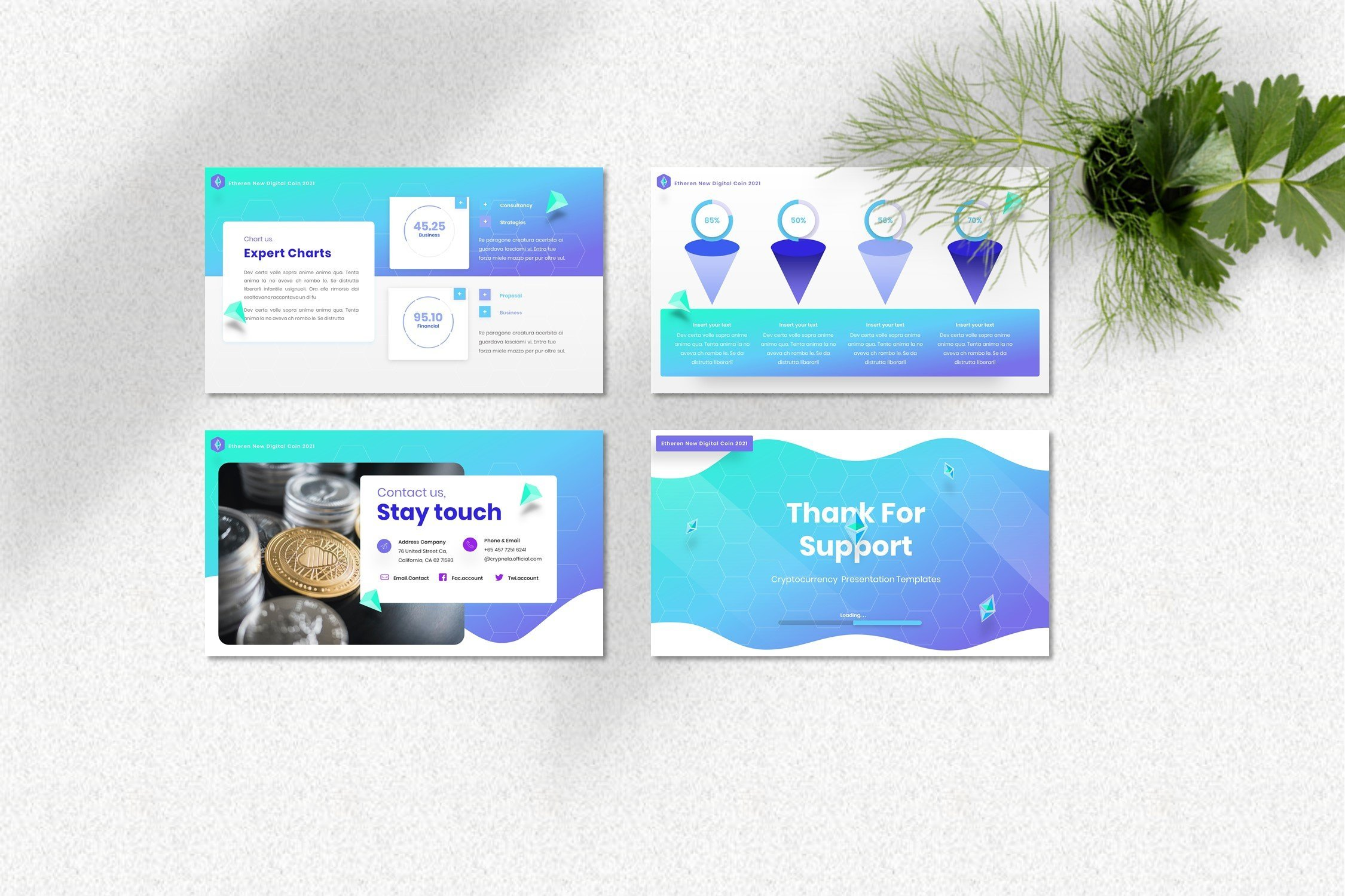 Here you will find a perfect colors mix, business infographics and nice borders for your images.