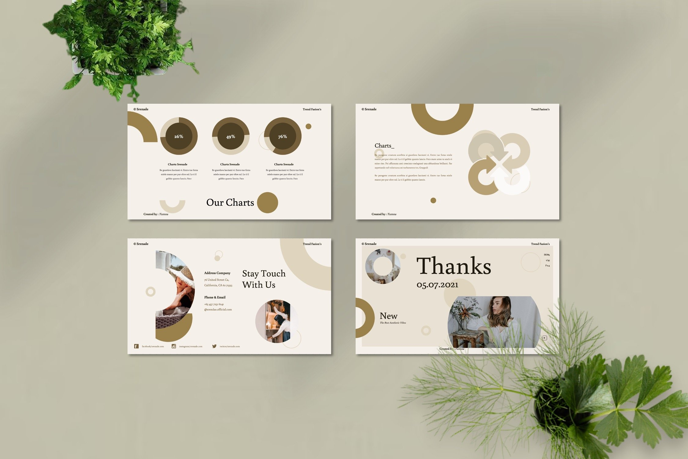 You can decorate your presentation by infographics.