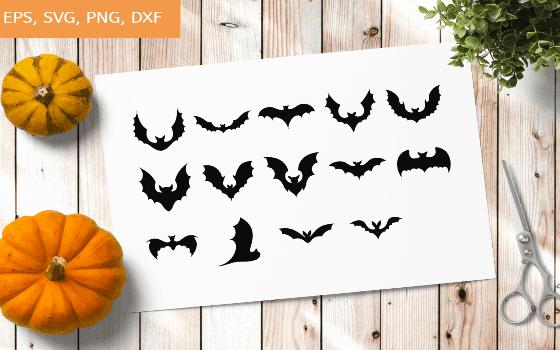 Bats SVG, Bat Bundle SVG, Halloween Bats, Flying Bats svg, 14 Variations.