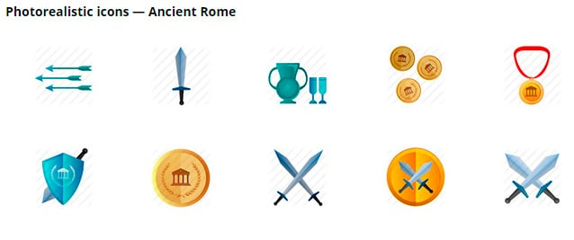 Icons of ancient Rome