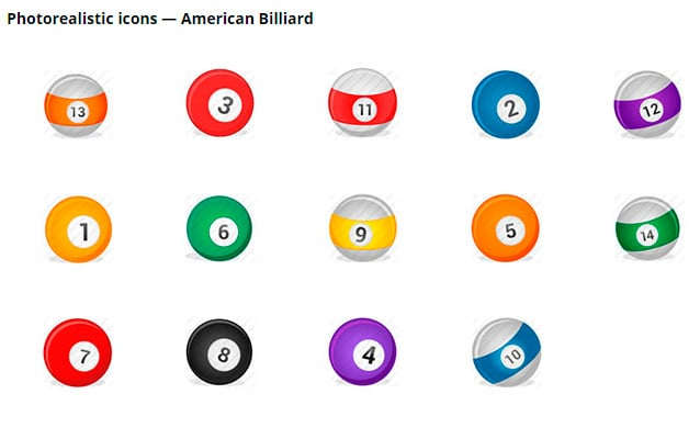 Icons of billiard