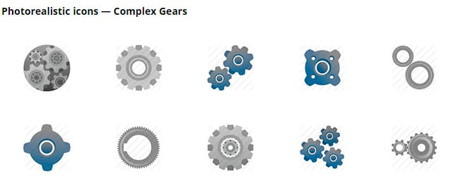 Icons of complex gears