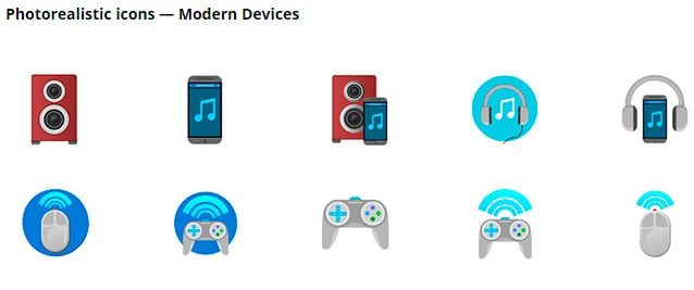 Icons of modern devices