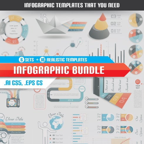 Awesome Infographics Templates Bundle - infographics templates vector preview