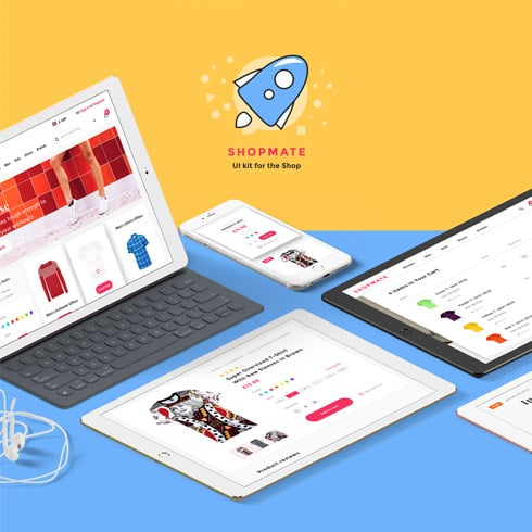 UI Kit for an Online Store with 92% OFF - shopmate ui kit preview