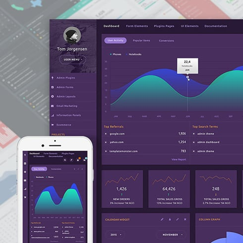 MonsterAdmin Dashboard Admin Template - dashboard