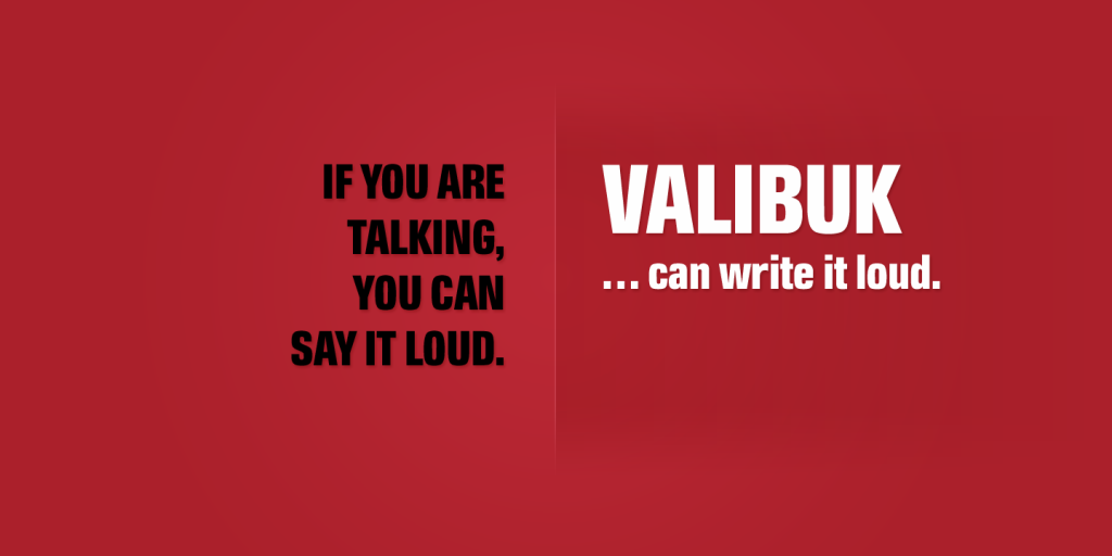 Two variants of the font on a red background - black and white.