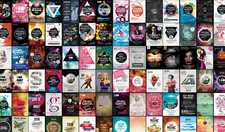 100 Party & Bash Flyers Bundle