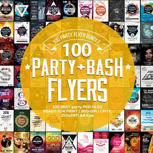 100 Party & Bash Flyers Templates Bundle - 490x490 1