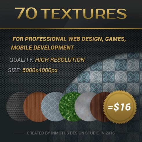 Author - 70 textures banner