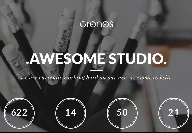 Cronos Coming Soon WordPress Theme