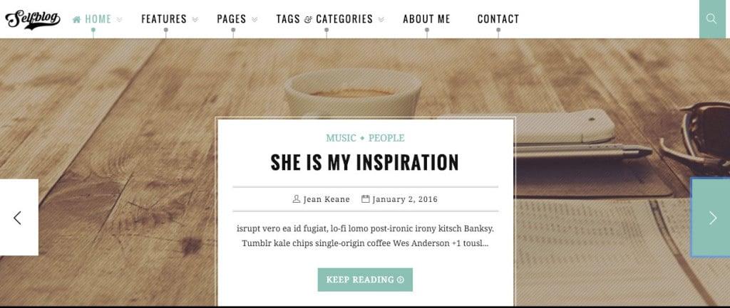 SelfBlog Personal WordPress Theme