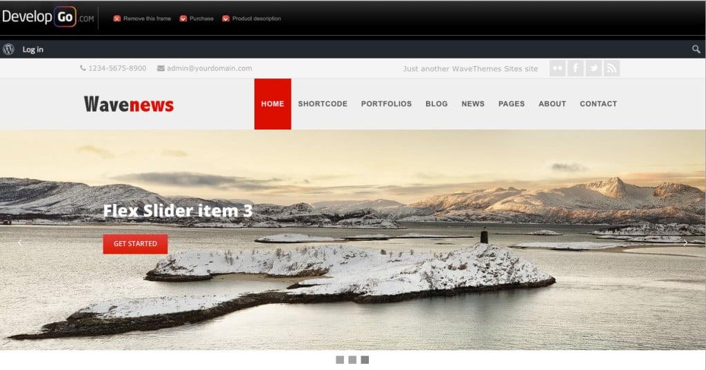 WaveNews Multipurpose WordPress Theme