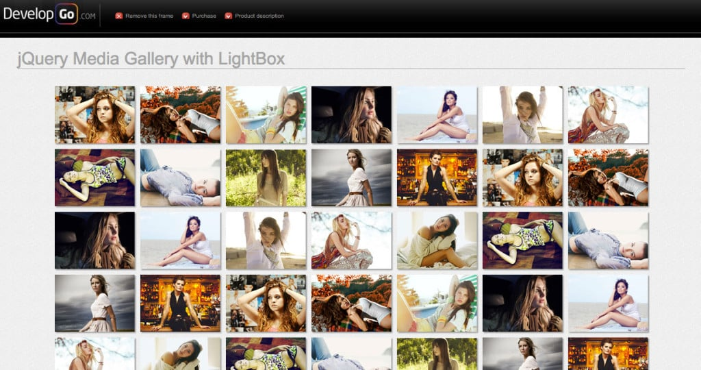 Responsive Media Grid with LightBox
