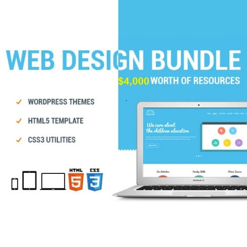[Mega Bundle]1052 Items: 26 HTML, 19 PSD, 7 WordPress Themes, 1000+ vector icons! - Untitled 5 490x490