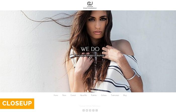 Closeup WordPress Photography Theme