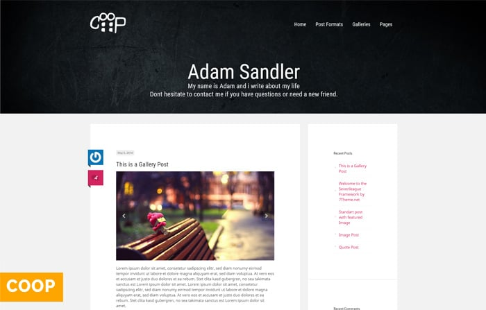 Coop – Responsive WordPress Blog Theme