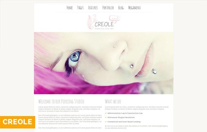 Creole – WordPress Theme for Piercing Studios