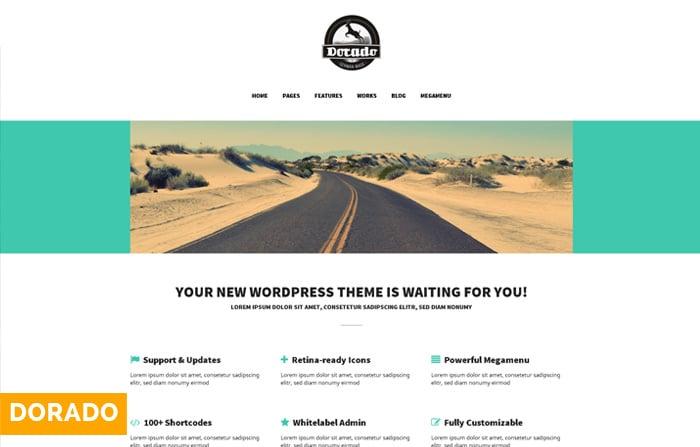 Dorado Flat Portofolio WordPress Theme