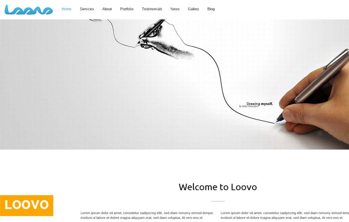 Loovo Clean One Page WordPress Theme