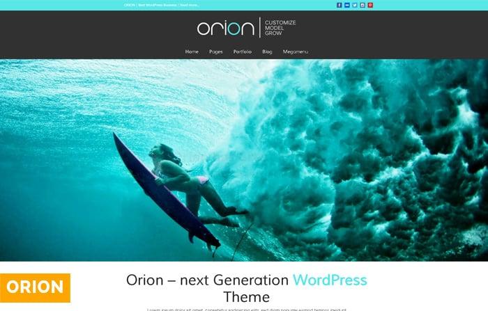 Orion Parallax WordPress Theme