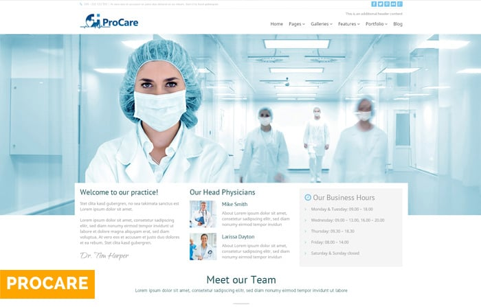 Procare WordPress Doctors Theme