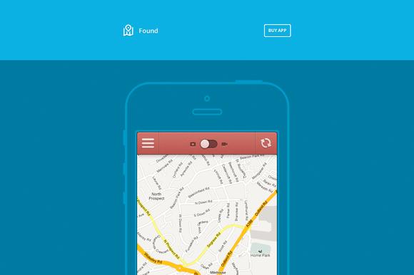 Found - App Website (HTML/CSS)