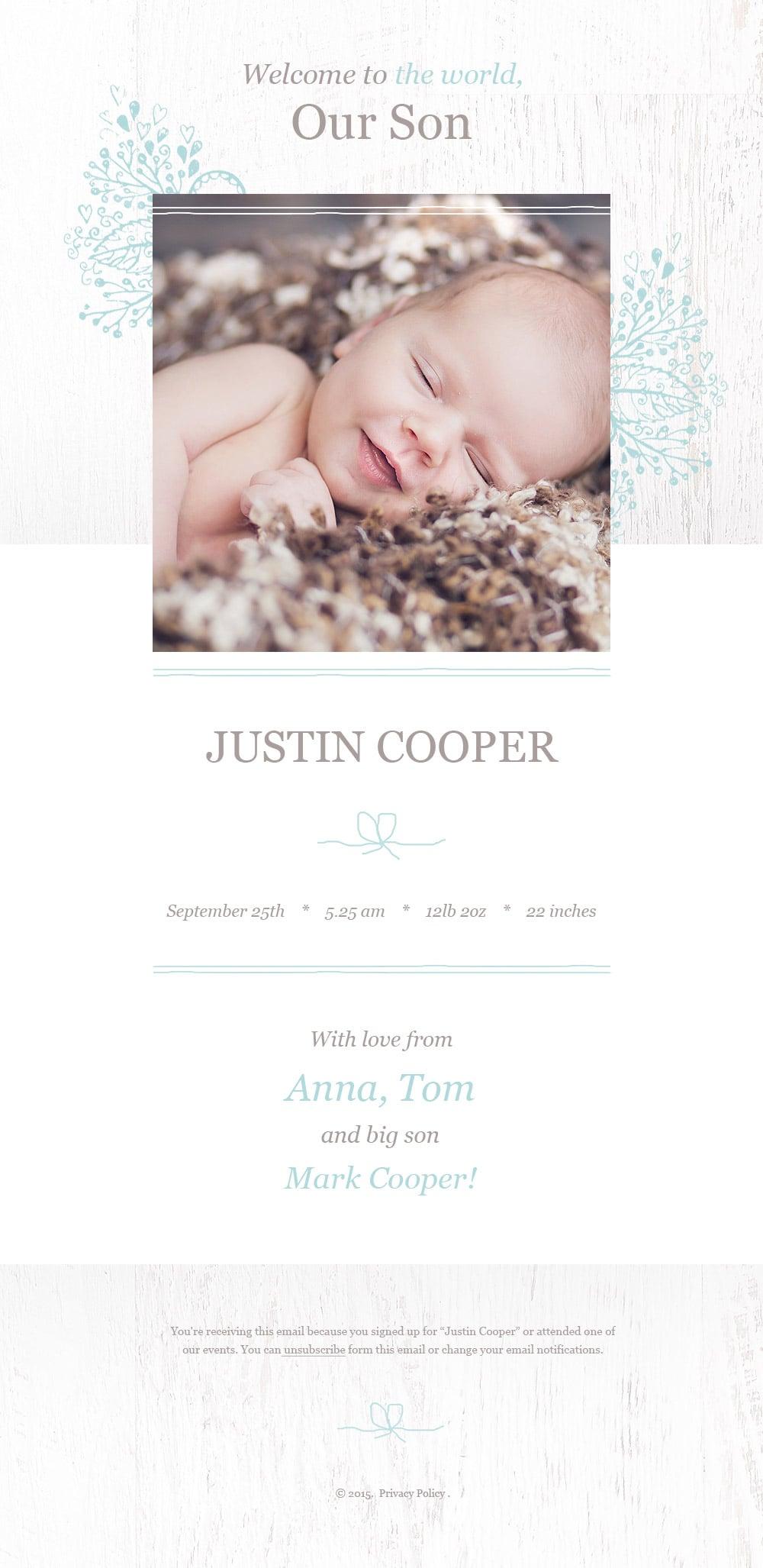 Newborn Responsive Newsletter Template