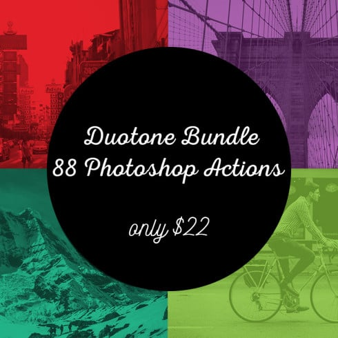 Duotone Bundle: 88 Photoshop Actions – only $22