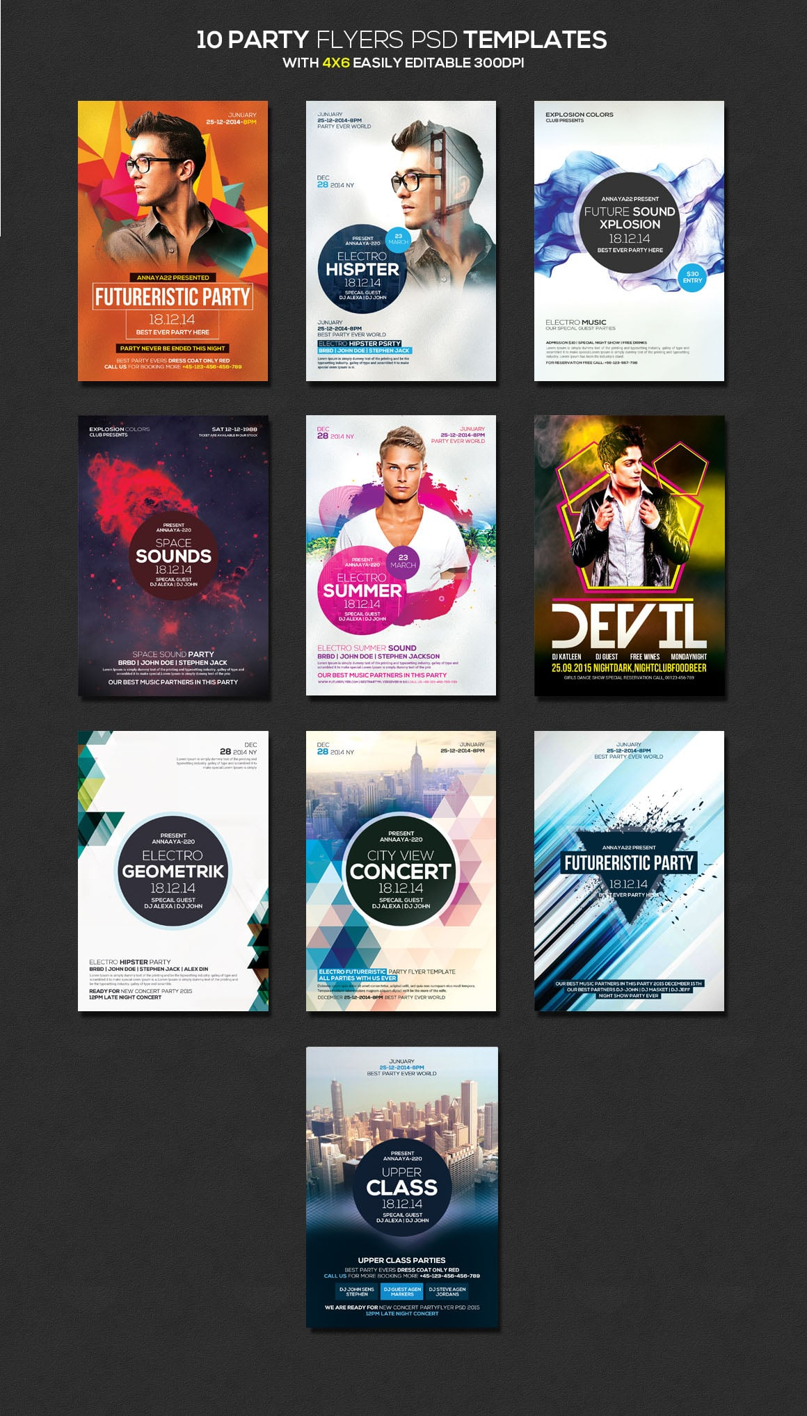 Party Flyers PDS templates
