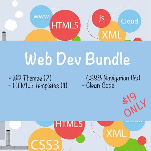 Web Dev Bundle: WP Themes, HTML5 Templates & CSS3 Navigation - $19 - 231