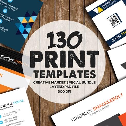 Huge Print Bundle: 130 Print Templates - $23 - 490x490 1