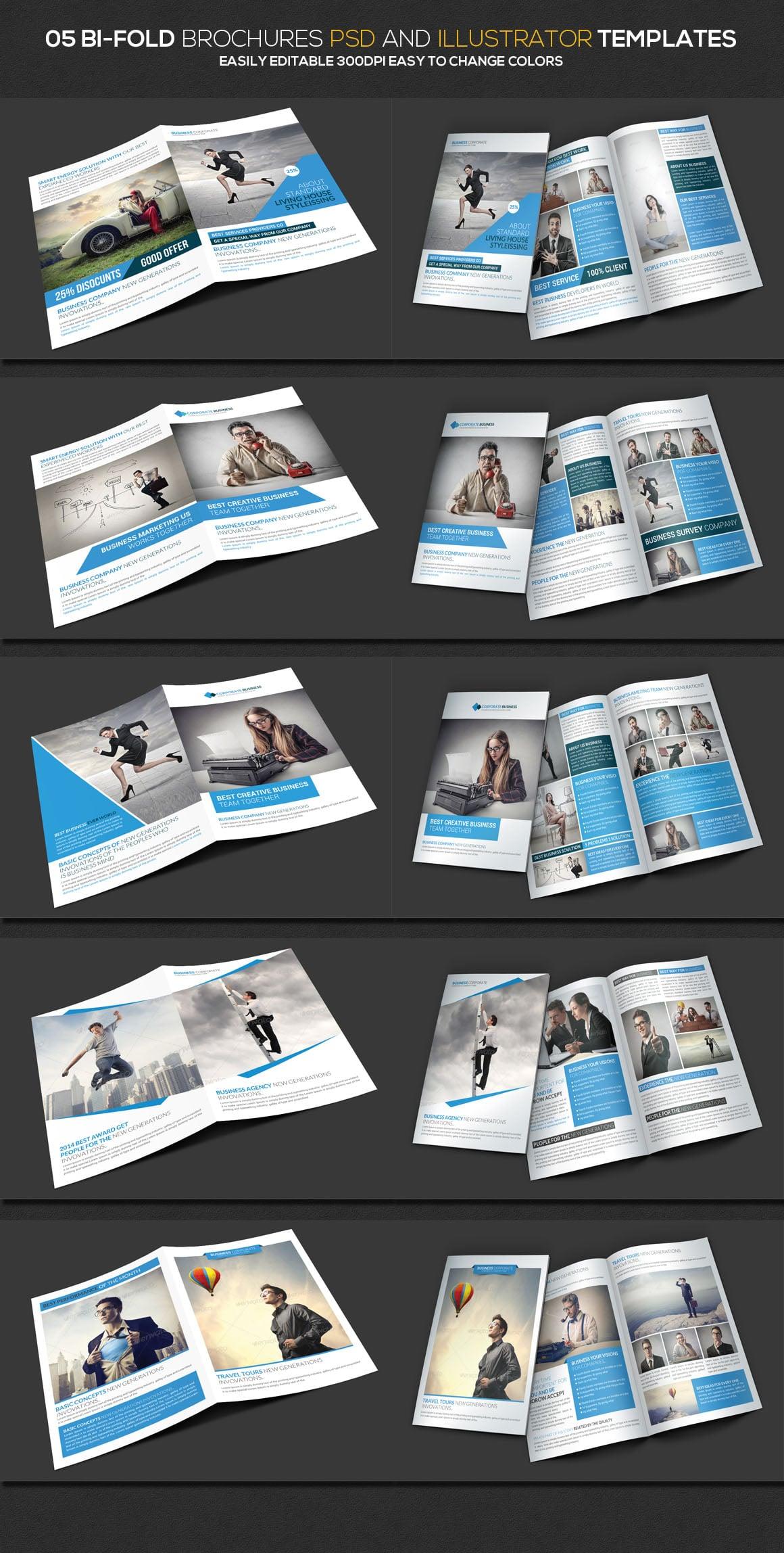 5 Bifold Brochures templates