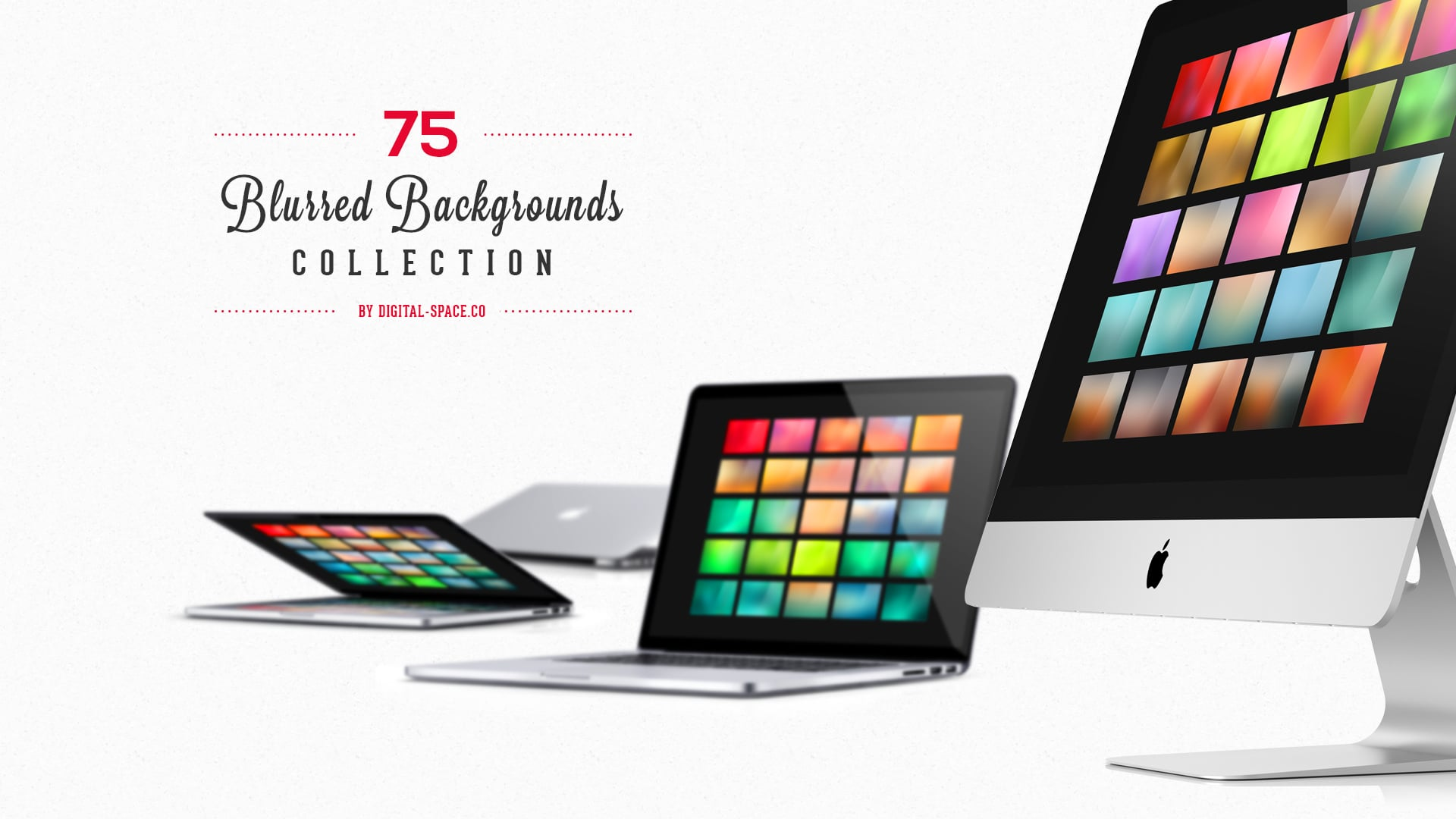 75 Blurred Backgrounds Collection for just $12 - Large Banner