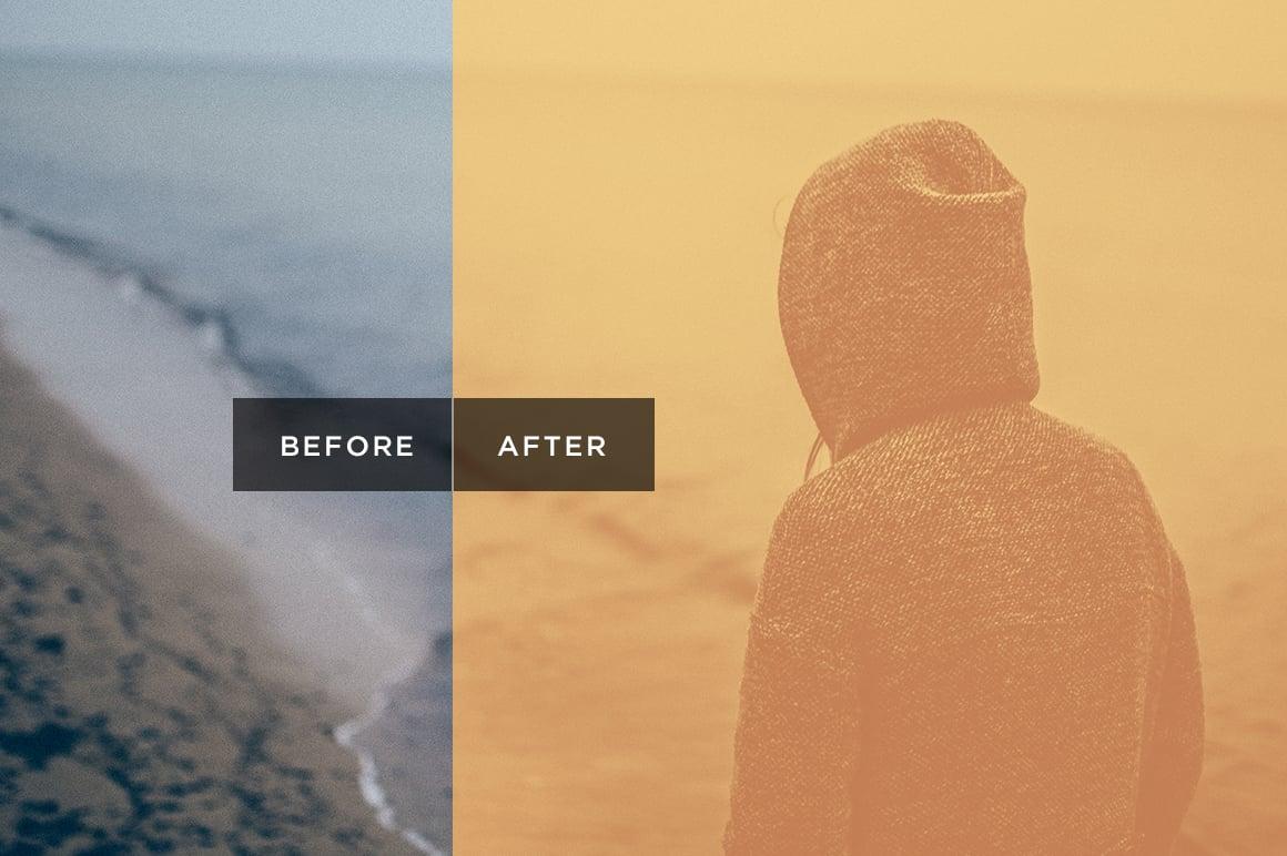 Matte Duotone Photoshop Actions