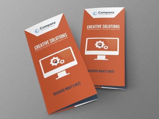 Online Marketing Brochure PSD